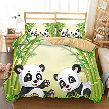 GNNSITT Funda nordica Panda Animal Lindo bambú