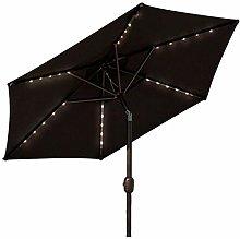 Gogh Paraguas de Parasol de jardín con Luces