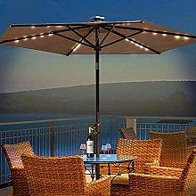 Gogh Parasol de jardín con Luces LED solares,