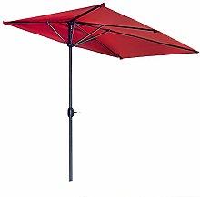 Gogh Parasol de Patio Rojo de 2.5M, sombrilla de
