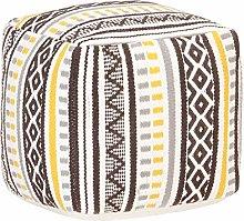 Goliraya Puf de diseño Estampado de algodón,Puff