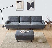 Gona Sofá cama de 266 cm, sofá de tela de 3