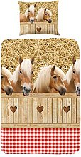 GOOD MORNING Juego De Funda Nórdica Horses