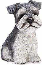 GPWDSN Lindo Perro en Forma de Resina Hucha Banco