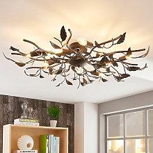 Gran lámpara LED de techo Yos, diseño de hojas