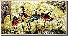 Gran Tamaño Hecho A Mano Abstracto Ballet Danza