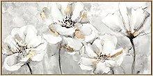 Gran Tamaño Hermosas Flores Blancas Cuchillo