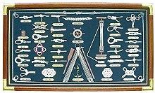 Grande Tabla de Nodos en Vitrina de Cuadros con
