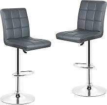 Gray-Set de 2 Taburete de bar, silla de bar,