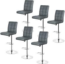 Gray-Set de 6 taburete de bar, silla de bar,