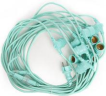 Greenice - Cadena Luminosa Verde Menta 11 X E27