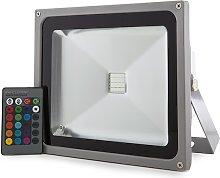 Greenice - Foco Proyector LED IP65 30W RGB Mando a
