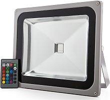 Greenice - Foco Proyector LED IP65 50W RGB Mando a