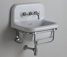Griferia lavabo de pared RETRO cromo / Porcelaine
