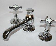 Griferia lavabo RETRO Bronce / Anis