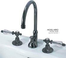 Griferia lavabo RETRO níquel negro / Olive