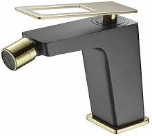Grifo de bidé negro y oro Imex - Serie Suecia