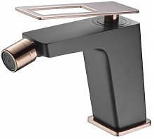 Grifo de bidé negro y oro rosa Imex - Serie Suecia