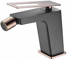 Grifo de bidé negro y oro rosa Serie Suecia - Imex