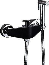 Grifo de ducha de latón negro, grifo de lavadora,