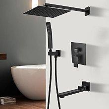 Grifo de ducha negro baño bañera grifo de ducha