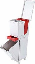 GRX-ZNLJT Cubo Basura de Cocina con Tapa,Sistema