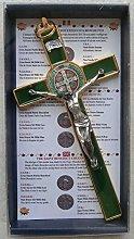 GTBITALY 10.004.21 Verde Cruz Crucifijo Oro Dorado