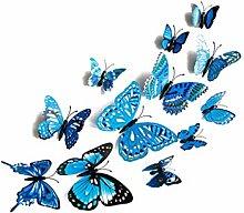 Guangcailun Forma 12PCS / Set de la Mariposa 3D de