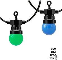 Guirnalda LED con cable negro 10 bombillas LED