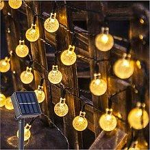 Guirnaldas Luces Exterior Solar, 60 LED Guirnalda