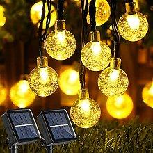 Guirnaldas Luces Exterior Solar, LED Cadena de