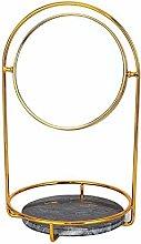 GUOXIANG Espejo cosmético con doble estante