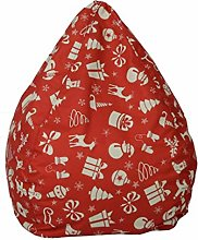 GUOXY Funda para puf de Navidad, suave, sin