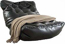 GUOXY Puf de piel para sofá o tumbona, sin
