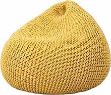 GUOXY Puf para niños hecho a mano, color amarillo
