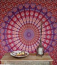 Colchas de Brocado Viscosa 270x220x0,5 cm Colcha India Multicolor Guru-Shop Brocado Oriental Colcha de Retazos