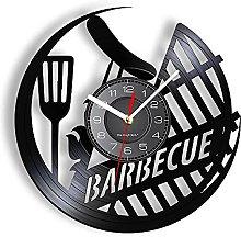 GVSPMOND Barbacoa Vinilo LP Record Reloj de Pared