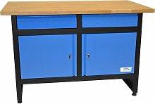 GW 2/2 - Banco de trabajo con estante de madera -