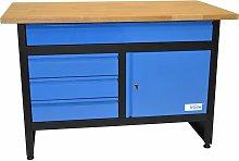 GW 3/1 - Banco de trabajo con estante de madera -