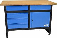 GW 5/1 - Banco de trabajo con estante de madera -