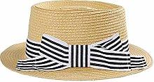 GWFVA Sombrero de Paja Trenzado para Mujer Arco a