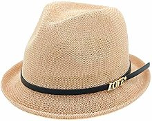 GWFVA Sombrero de Paja Trenzado para Mujer Boho