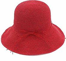 GWFVA Sombrero de sombrilla Verano de Mujer Tejido