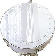 GXGX Mantel transparente redondo de PVC, protector