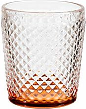 H&H Diamantato - Juego de 6 vasos, cristal, base