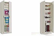 Habitdesign 007144O - Armario 2 Puertas Multiusos,