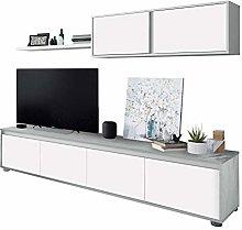 Habitdesign 016663L Mueble de salón Moderno,