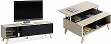 Habitdesign Mueble de TV, Mueble de salón,