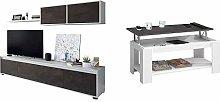 Habitdesign Mueble Salon Comedor + Mesa Centro con