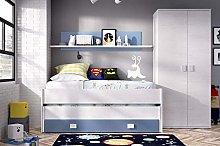 HABITMOBEL Conjunto Dormitorio Juvenil, Cama Nido